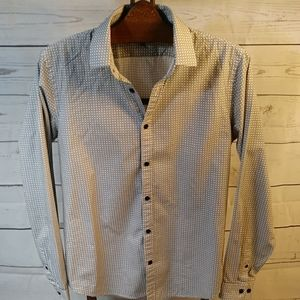 Express Black & White Button Down Size Med